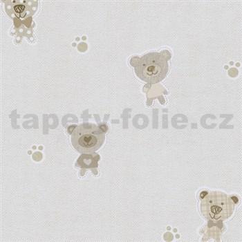 Papierové tapety na stenu Happy Kids 2 - medveď hnedý , béžový