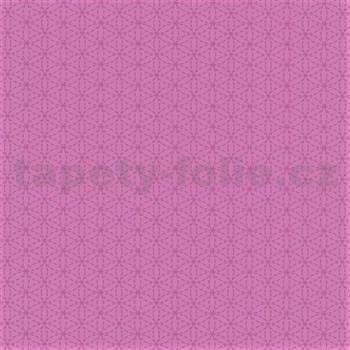 Papierové tapety na stenu Happy Kids 2 - geometrické kvetinky ružové - POSLEDNÉ KUSY