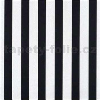 Papierové tapety na stenu pruhy čierne a biele lesklé