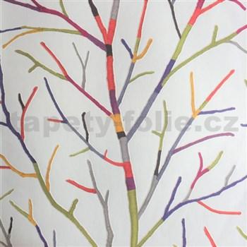 Vliesové tapety na stenu vetvy stromu farebné