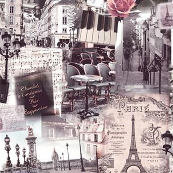 Vliesové tapety na stenu Home Paríž hnedá