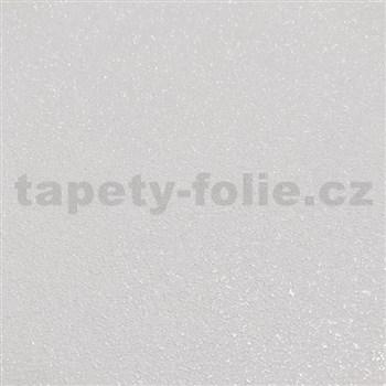 Vliesové tapety na stenu IDEA OF ART štruktúrované biele so striebornými odleskami