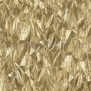 Vliesové tapety na stenu IDEA OF ART 3D sklenené hroty zlaté
