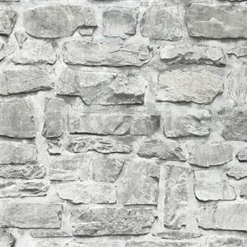 Vliesové tapety na stenu Il Decoro ukladaný kameň sivý