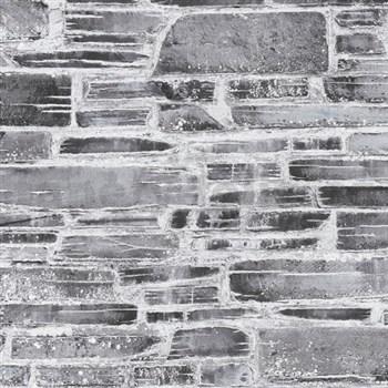 Papírové tapety na stenu Il Decoro kameň sivý