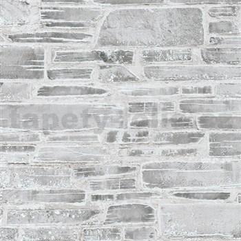 Papírové tapety na stenu Il Decoro kameň svetlo sivý