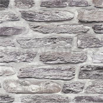 Vliesové tapety na stenu Il Decoro kamenná stena sivá