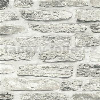 Vliesové tapety na stenu Il Decoro kamenná stena hnedá
