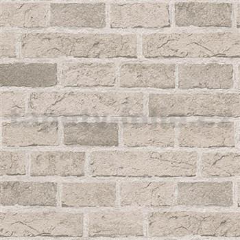 Papírové tapety na stenu Il Decoro tehly svetlo hnedé