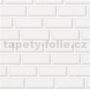 Vliesové tapety na stenu Imagine 3D obklad biely s lesklým povrchom