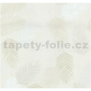 Vliesové tapety na stenu Infinity perie biele, hnedé