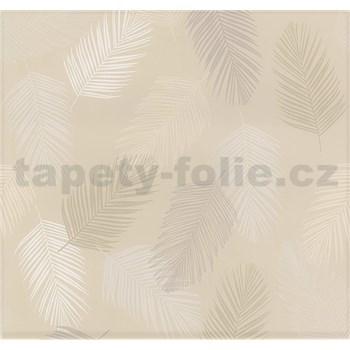 Vliesové tapety na stenu Infinity perie hnedé, sivé