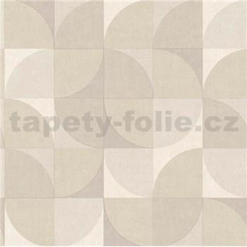 Vliesové tapety na stenu Inspiration Wall geometrický vzor hnedo-béžový