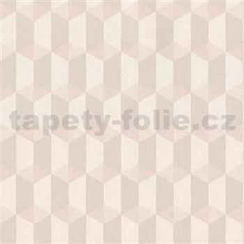 Vliesové tapety na stenu Inspiration Wall kocky ružovo-sivé