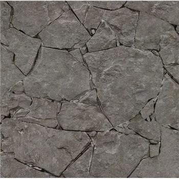 Papierové tapety na stenu It's Me kameň štiepaný tmavo sivý