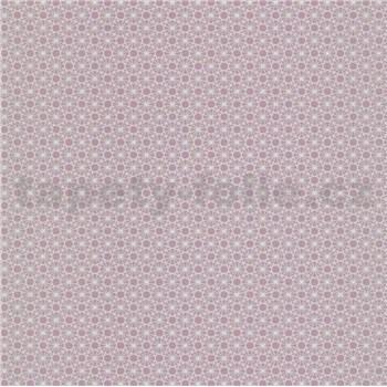 Papierové tapety na stenu Je T´aime geometrický vzor ružový