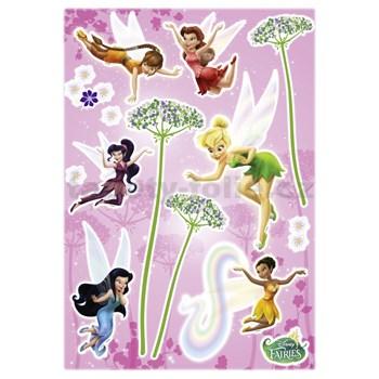 Samolepky na stenu Disney Víly kvety rozmer 50 cm x 70 cm