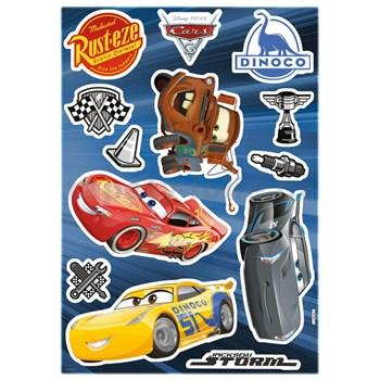 Samolepky na stenu Disney Cars 3 rozmer 50 cm x 70 cm