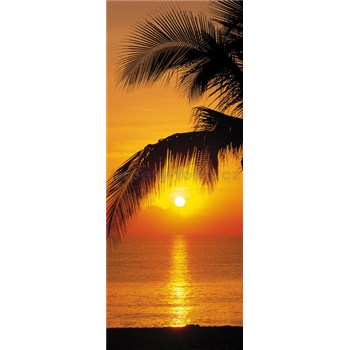 Fototapety palma a západ slnka