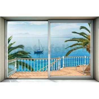 Vliesové fototapety výhľad na more rozmer 368 cm x 248 cm