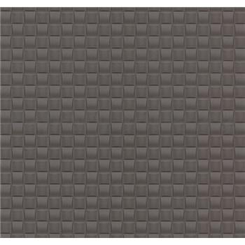 Vliesové tapety na stenu G. M. Kretschmer kachličky tmavo hnedé