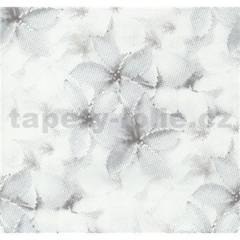 Vliesové tapety na stenu G. M. Kretschmer kvety modro-hnedé