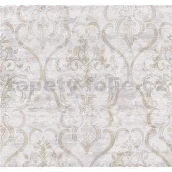Vliesové tapety na stenu G. M. Kretschmer zámocký vzor bielo-hnedý