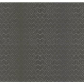 Vliesové tapety na stenu G. M. Kretschmer listy hnedé na tyrkysovo-hnedom podklade