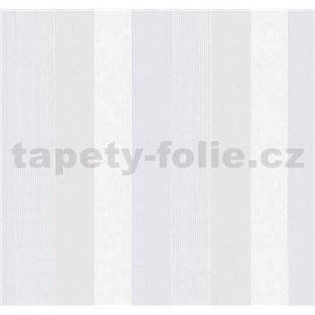 Vliesové tapety na stenu G. M. Kretschmer pruhy svetlo fialové, biele, krémové