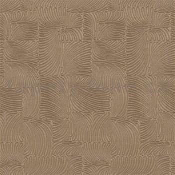 Vliesové tapety na stenu G. M. Kretschmer II moderný vzor hnedý