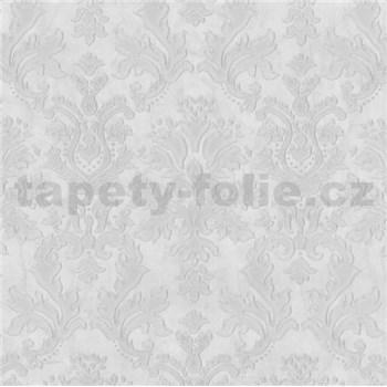 Vliesové tapety na stenu G. M. Kretschmer II zámocký ornament bielo-sivý