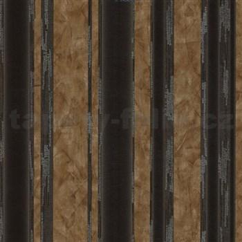Vliesové tapety na stenu G. M. Kretschmer II pruhy čierno-hnedé