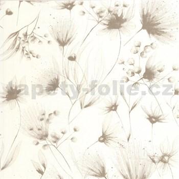 Vliesové tapety na stenu G. M. Kretschmer Sommeraktion kvety svetle hnedé - POSLEDNÝ KUS