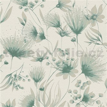 Vliesové tapety na stenu G. M. Kretschmer Sommeraktion kvety tyrkysové
