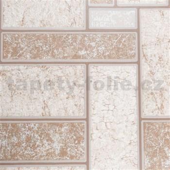 Vinylové tapety na stenu IMPOL obklad béžovo-hnedý