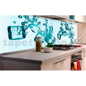 Samolepiace tapety za kuchynskú linku kocky ľadu rozmer 180 cm x 60 cm