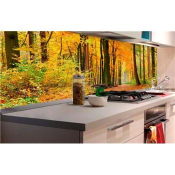 Samolepiace tapety za kuchynskú linku les v jeseni rozmer 180 cm x 60 cm