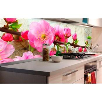 Samolepiace tapety za kuchynskú linku sakura rozmer 180 cm x 60 cm