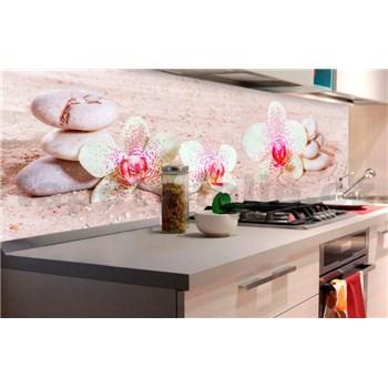 Samolepiace tapety za kuchynskú linku ZEN kvetiny rozmer 180 cm x 60 cm