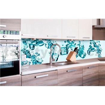 Samolepiace tapety za kuchynskú linku kocky ľadu rozmer 260 cm x 60 cm