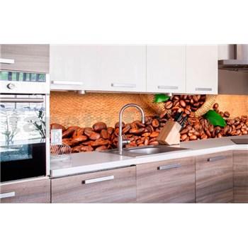 Samolepiace tapety za kuchynskú linku kávové zrnká rozmer 260 cm x 60 cm