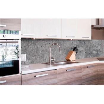 Samolepiace tapety za kuchynskú linku betón sivý rozmer 260 cm x 60 cm