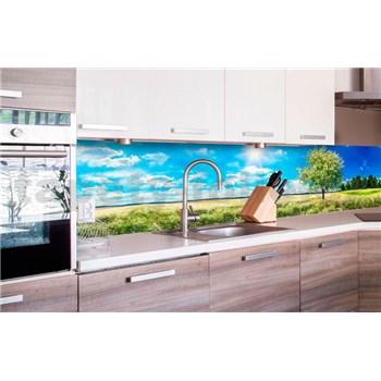 Samolepiace tapety za kuchynskú linku rozkvitnutý strom rozmer 260 cm x 60 cm