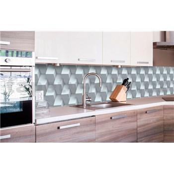 Samolepiace tapety za kuchynskú linku 3D kocky rozmer 260 cm x 60 cm