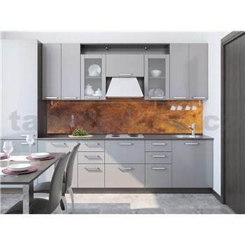 Samolepiace tapety za kuchynskú linku medený kovový plát rozmer 260 cm x 60 cm
