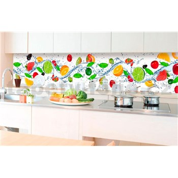 Samolepiace tapety za kuchynskú linku ovocie rozmer 350 cm x 60 cm