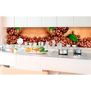 Samolepiace tapety za kuchynskú linku kávové zrnká rozmer 350 cm x 60 cm