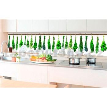 Samolepiace tapety za kuchynskú linku bylinky rozmer 350 cm x 60 cm