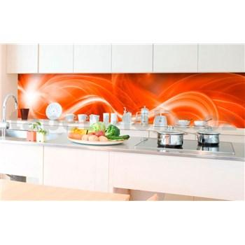 Samolepiace tapety za kuchynskú linku abstrakt oranžový rozmer 350 cm x 60 cm