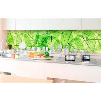 Samolepiace tapety za kuchynskú linku listové žily rozmer 350 cm x 60 cm